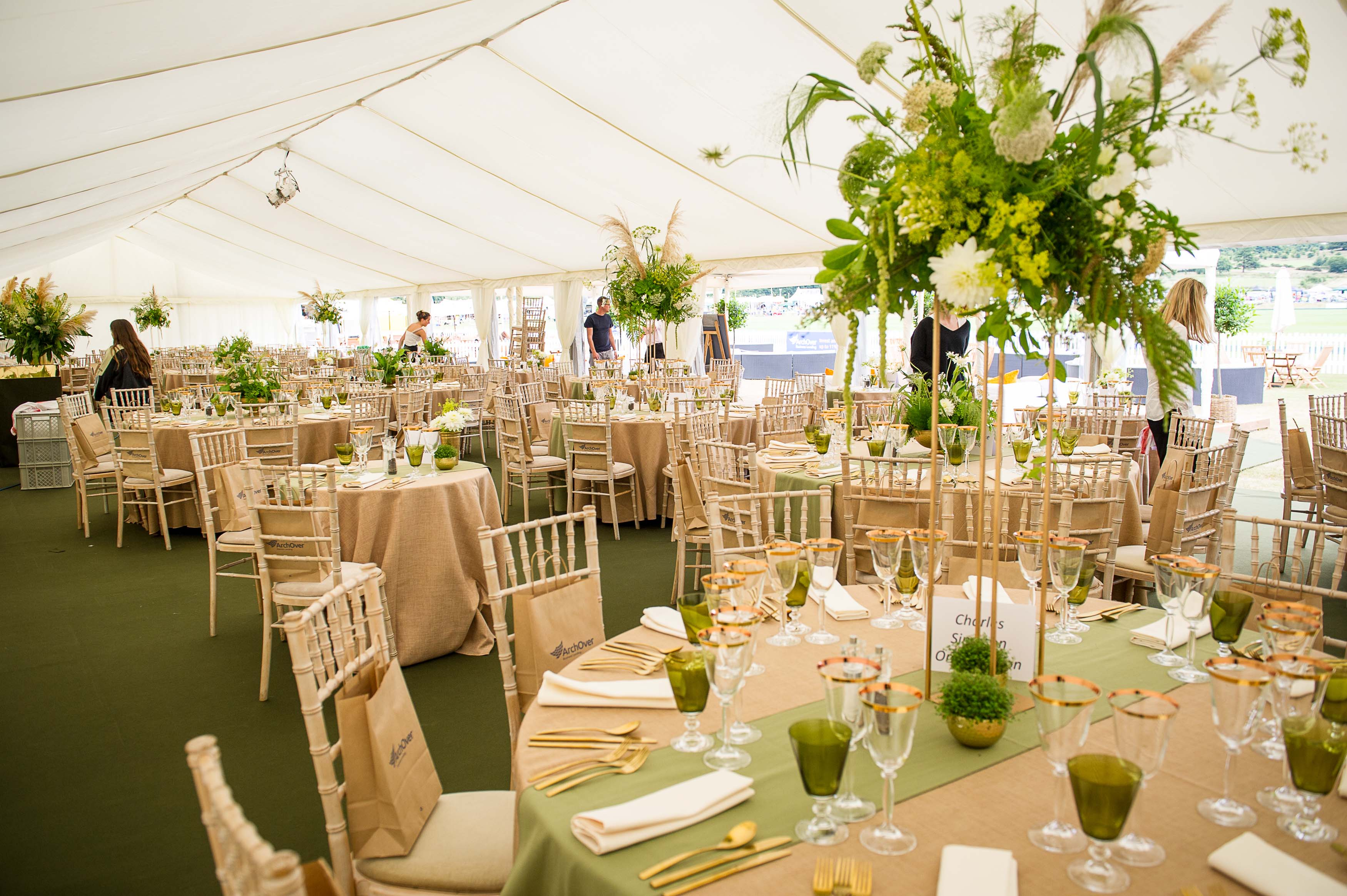cowdray hospitality marquee